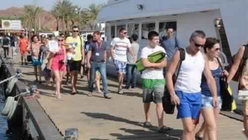 Dahab receives 693 tourists and visitors from different nationalities