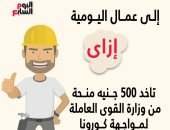 How do you take a 500 EGP grant from the Ministry of Manpower to confront Corona