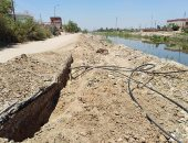Irrigation implementation of 7 decisions to remove the violations of sewage pipes on the Canal in Qaliubiya