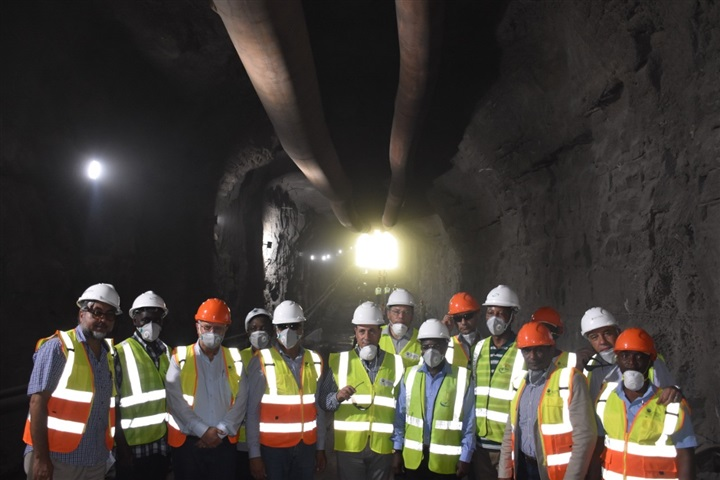 A high-level Egyptian delegation inspects the Rufiji River Dam project in Tanzania